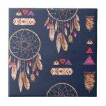 "Boho Dream Catcher Pattern Tile<br><div class=""desc"">Beautiful Bohomeian Dream Catcher Pattern.</div>"