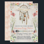 "Boho Dream Catcher Rustic Baby Shower Invitations<br><div class=""desc"">The mama-to-be will love these beautiful hand-painted baby shower invitations!</div>"
