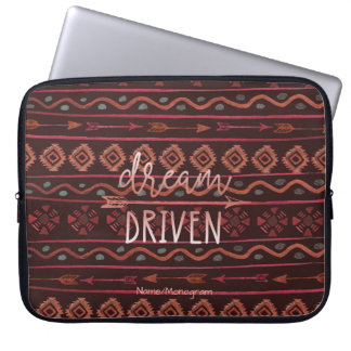 Boho Dream Driven Tribal Pattern, Personalized Computer Sleeve