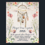 "Boho Dreamcatcher Rustic Baby Shower Time Capsule Photo Print<br><div class=""desc"">See our Paper Peach shop for matching signs!</div>"