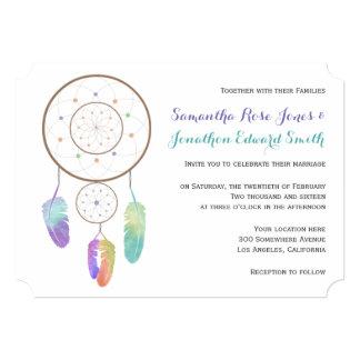 Boho Dreamcatcher Wedding Invitation