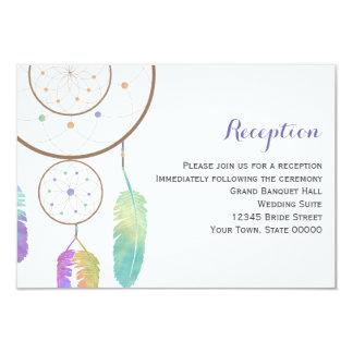 Boho Dreamcatcher Wedding Reception Info Card