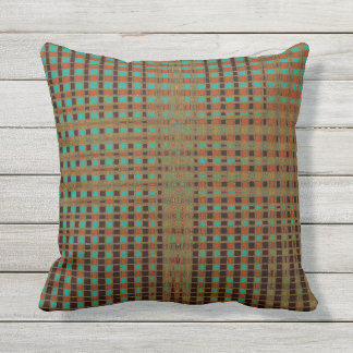 Boho Earthy Psychedelic Copper Turquoise Black Pillows