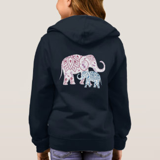 Boho Elephants , MOM and Me matching Hoodie
