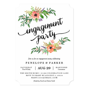 Engagement party invitations zazzle boho engagement party invitation stopboris Images