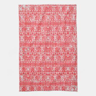 Boho ethnic elephant pattern kitchen towel