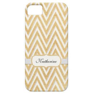 BOHO Faux Burlap n Lace Chevron modern mod style iPhone 5 Cases
