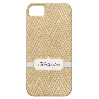 BOHO Faux Burlap n Lace Chevron modern mod style iPhone 5 Case