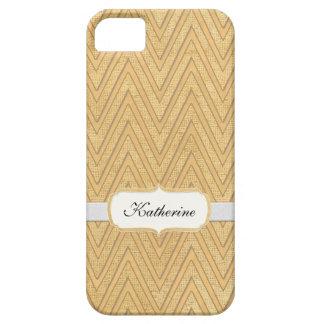 BOHO Faux Burlap n Lace Chevron modern mod style iPhone 5 Cover