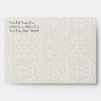 BOHO Faux Burlap n Lace gypsy modern mod style Envelope