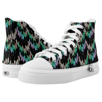 Boho Feathers Bohemian Multicolor Long Tail Bird High-Top Sneakers