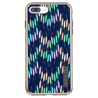 Boho Feathers Bohemian Multicolor Long Tail Bird Incipio DualPro Shine iPhone 7 Plus Case
