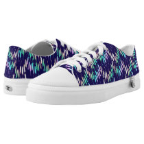Boho Feathers Bohemian Multicolor Long Tail Bird Low-Top Sneakers