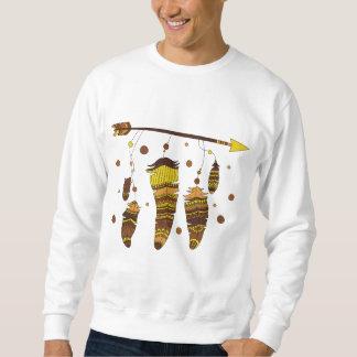 Boho feathers symbols design sweatshirt