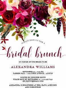 bridal brunch invitations zazzle