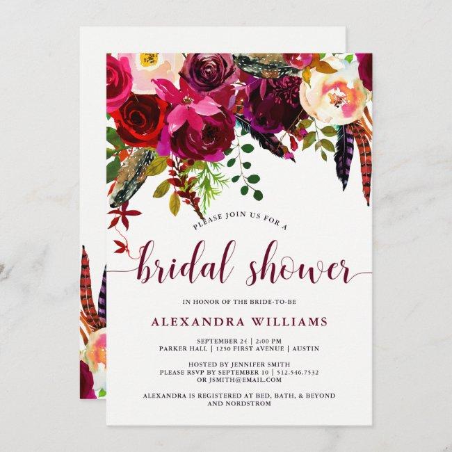 Boho Floral | Bridal Shower Invitation