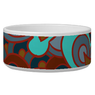 Boho, Floral, Brown and Teal Bowl