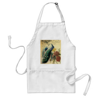 boho floral french country modern vintage peacock adult apron