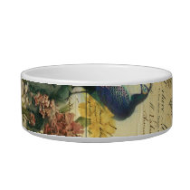 boho floral french country modern vintage peacock bowl