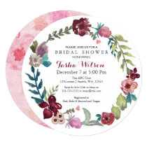 Boho Floral Garden Bridal Shower Invitations