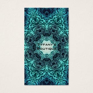Boho floral paisley turquoise teal mandala henna business card