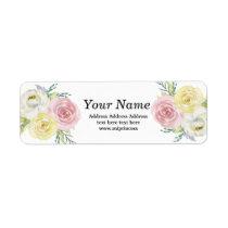 boho floral  return address stickers