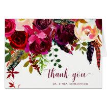 Boho Floral | Thank You Card