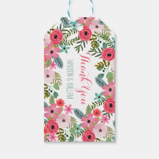 Boho floral Thank you gift tags Personalized