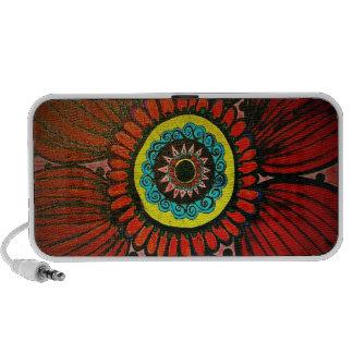 Boho flower doodle speaker