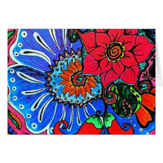 Boho Flower Illustration Blank Notecards Stationery Note Card