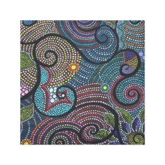 boho Flower Swirls and Dots