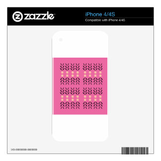 Boho folk pink Ornaments Skins For The iPhone 4S