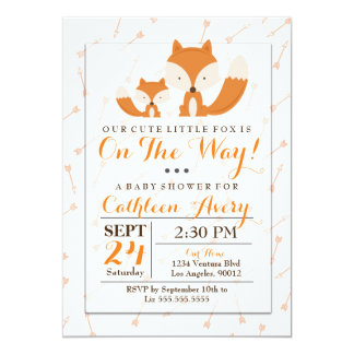 Boho Fox Baby Shower Invitation