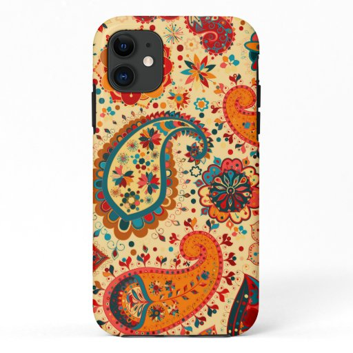 Boho Funky Trendy Retro Abstract Pattern iPhone 11 Case