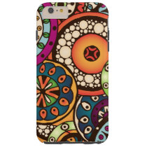 Boho Funky Trendy Retro Abstract Pattern Tough iPhone 6 Plus Case