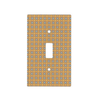 Boho Geometric Flowers Pattern Light Switch Cover