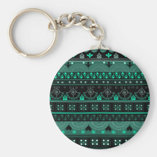 Boho Geometric Pattern Keychain
