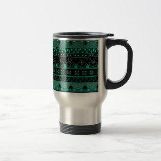 Boho Geometric Pattern Travel Mug