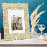 Boho Gold Trellis Photo Plaque