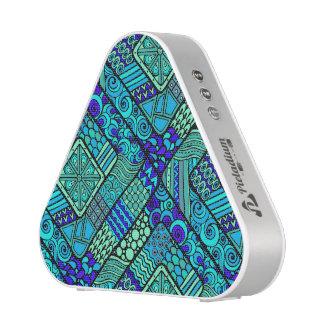 Boho Green blue abstract tribal pattern Bluetooth Speaker