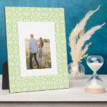 Boho Green Trellis Photo Plaque
