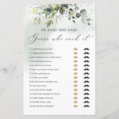 bridal game