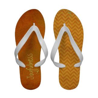 Boho Grunge Joyfulness Premium Flip Flops