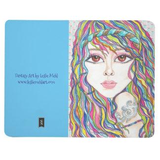 Boho Gypsy Fantasy Art Face Pocket Journal
