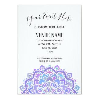 Boho Gypsy Purple Mandala Card