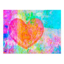 Boho Heart Postcard