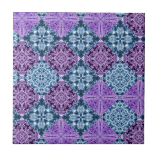 Boho Hippie Quilt Ceramic Tile
