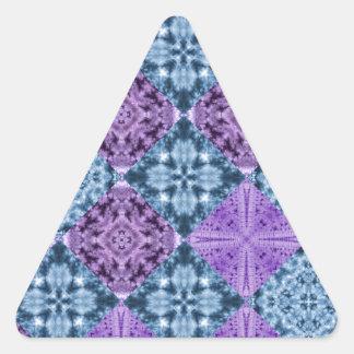 Boho Hippie Quilt Triangle Sticker
