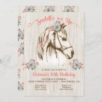 Boho Horse Birthday Party Invitation