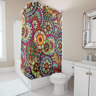 Indians Shower Curtains